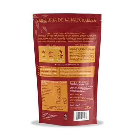 Cacao Crudo en Polvo Bio 250g