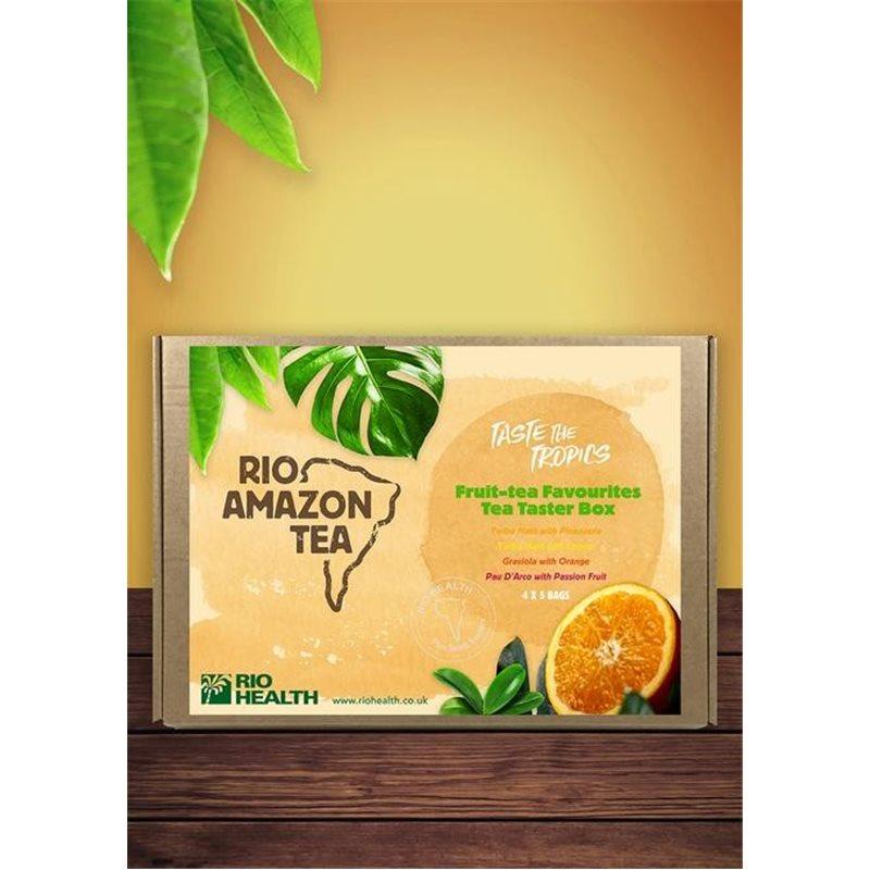 Infusión Tropical caja de 4 sabores x 5 bolsitas