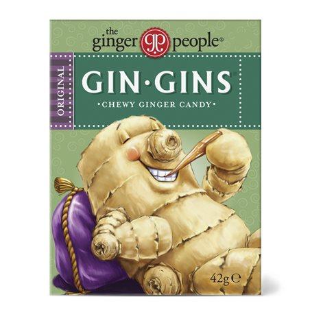 Gin-Gins Original Caramelos de Jengibre Masticable 42g