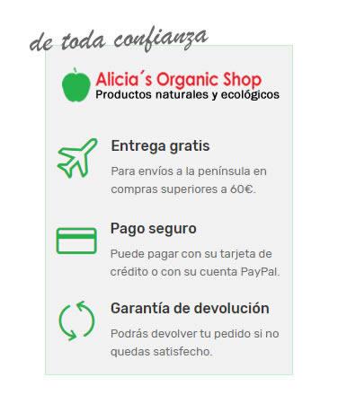 Alicia's Organic Shop te acerca solo productos naturales y ecológicos que provienen de comercio justo